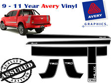 TRD stripe kit for toyota hilux with hard lid and rear decal