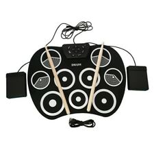 9 Pad Portable Electronic Roll Up Drum Kit USB Digital Foldable Practise Set