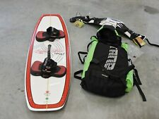 Kiteboard Set (Board, Kite, Harness, Lines, And Backpack)