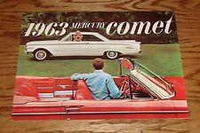 Original 1963 Mercury Comet Sales Brochure 63 Catalog S-22