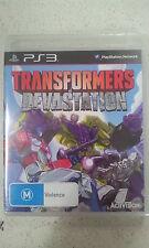 Transformers Devastation PS3 Playstation 3 Brand New & Sealed Australian Version