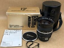 Nikon 28-45mm f/4.5 ZOOM-NIKKOR Ai Manual Focus Lens w/ Box - Nice