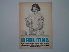 advertising Pubblicità 1957 IDROLITINA GAZZONI