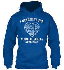 Blue For Alopecia Areata - I Wear Awareness Gildan Hoodie Sweatshirt