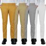 Pantalone Uomo Chino Slim fit Primaverile tasca america Bianco Grigio Senape Bei