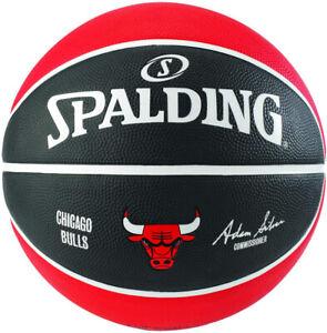 Ballon de Basketball NBA Team Spalding : Chicago Bulls Neuf Taille 7