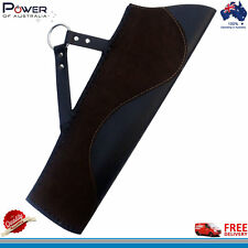 Traditional Leather Hip Quiver (R/H), Suede & Plain Leather Quiver, Antique