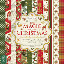 Dovecraft THE MAGIC OF CHRISTMAS 8x8 Paper Pad - Vintage Festive Merry Santa