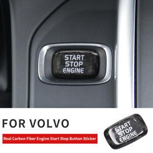 Car Carbon Engine Start Stop Button Sticker For Volvo V40 V60 S60L S60 XC60 S80L