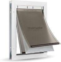 PetSafe Extreme Weather Aluminum Pet Dog Door w/ 3 Flaps Insulation -NEW EDITION