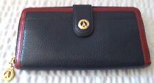 La Tour Eiffel Tri Color Leather Zippered Wallet & I.D.Case