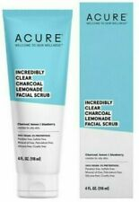 Acure Incredibly Clear Charcoal Lemonade Facial Scrub Combo to Oily Skin 4oz NEW