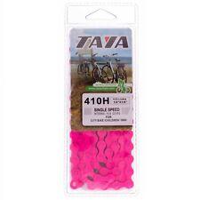 Cadena bicicleta TAYA 410H fixie/BMX FUXIA | FUCHSIA Fixie chain TAYA 410H