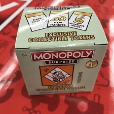 Monopoly Surprise Exclusive Collectible Tokens 5 Pieces Board Game New Sealed
