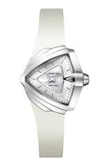 *BRAND NEW* Hamilton Women's VENTURA S White DIal White Rubber Watch H24251391