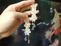 Handmade Sakura Hairpin Tsumami Kanzashi  Acrylic Flower Accessory Kimono Hanfu