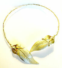 Bronze & Sterling Silver 2 Tone Leaf Neckpiece