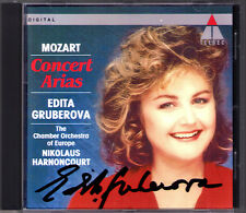 Edita GRUBEROVA Signiert MOZART Concert Arias HARNONCOURT CD Mia speranza Misera