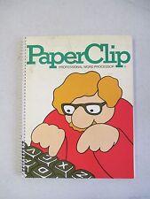 PAPERCLIP WORD PROCESSOR COMMODORE 64 COMPUTER DISK C64 C128 W/ GUIDE BOOK 1984
