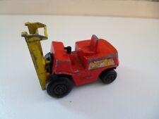 Fork Lift Truck - 1972 - # 15 - Red Yellow - Matchbox - England