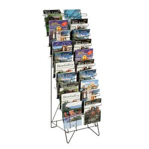 10-Tiered Wire Floor Literature Stand Magazines Holder Display