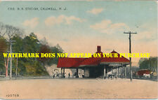 Erie Railroad Caldwell NJ station handcolored DB PM Essex Fells NJ 09-06-1911