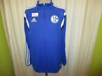 FC Schalke 04 Adidas Spieler Freizeit-Training Zipper/Jacke 2014/15 Gr.L TOP