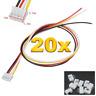 20 Set (40 Stück) 4Pin 2.0 PH 2.0mm Mini JST Stecker 15cm Kabel 28AWG + Buchse