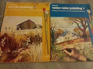 New Concepts In Art Instruction Lot  Enjoy Water Color Painting Acrylic Painting