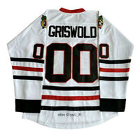 Clark Griswold #00 Christmas Vacation Movie Hockey Jersey Stitched White