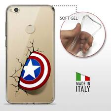 Huawei P8 Lite 2017 CASE COVER PROTETTIVA TRASPARENTE DC MARVEL Captain America