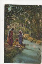 Aux Bords de l'Oued North Africa Vintage Postcard 500a