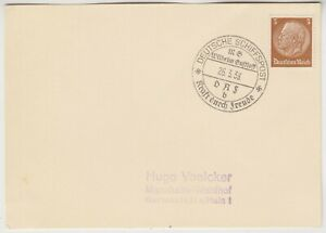 MARITIME 1938 DEUTSCHE SCHIFFSPOST:WILLIAM GUSTLOFF cover KRAFT DURCH FREUDE cd