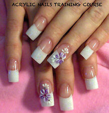 LEARN HOW TO DO ACRYLIC NAILS TRAINING COURSE DVD GUIDE NAILS BEAUTY