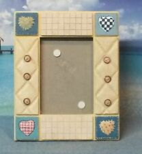 Patchwork Denim and Hearts Picture Frame