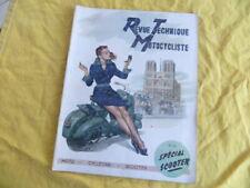 Revue Technique Motocycliste 1951 - Scooter Vespa / Bernardet / Lambretta