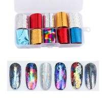 Starry Sky Nail Transfer Foil Holographic  Nail Art Stickers Manicure Decor