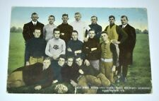 Original 1912 Fork Union Military Academy Football Team Photo Postcard VA Cancel