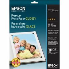 Epson Premium Photo Paper Glossy 8x10 Inches 20 Sheets S041465