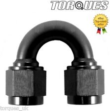 AN -10 (AN10 -10AN JIC) 180 Degree Female to Female Adapter In Black