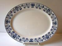 Vintage Johnson Bros Windsor Ware Ashford Blue Oval Serving Platter England HTF