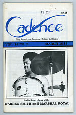 April 1988  Cadence. American Review of Jazz and Blues.  - Art Rollini
