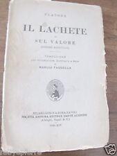PLATONE IL LACHETE SUL VALORE MAIEUTICO S.A.E.D.A. 1936