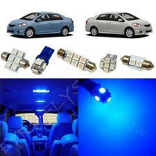 6x Blue LED lights interior package kit for 2007-2012 Toyota Yaris Sedan TY1B
