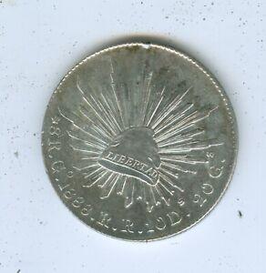 MEXICO 1888 Go 8 REALES--AU/UNC