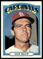 1972 Topps Don Shaw St. Louis Cardinals #479