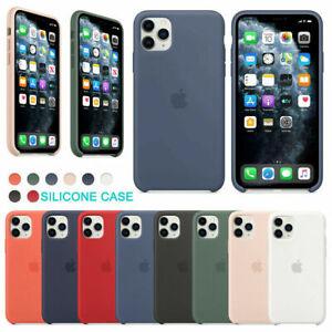 Funda para Apple iPhone 11 XR X 8 7 6 6S Plus Original carcasas Silicona Genuina