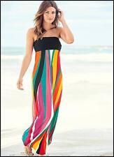 Mujer señoras impresionante vibrante multicolores Vestido Maxi del Verano Talla Grande 18-20