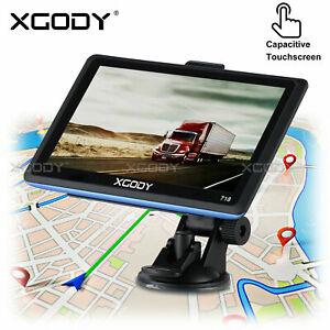 "XGODY 718 7"" Car Sat Nav GPS Navigation Truck Free IE EU Maps For HGV Lorry LGV"