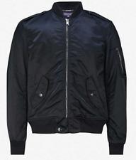 Ralph Lauren Purple Label Navy Gunners Japanese Satin Bomber Jacket Twill Wool